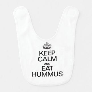 KEEP CALM AND EAT HUMMUS BIB