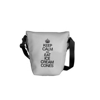 KEEP CALM AND EAT ICE CREAM CONES MESSENGER BAGS