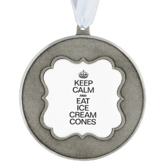 KEEP CALM AND EAT ICE CREAM CONES ORNAMENT