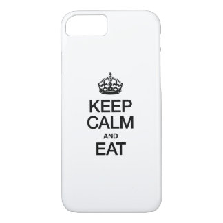 KEEP CALM AND EAT iPhone 7 CASE
