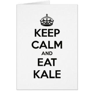 KEEP CALM AND EAT KALE CARD