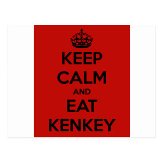 keep calm and eat kenkey postcard