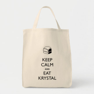 Keep Calm and Eat Krystal Tote Bag