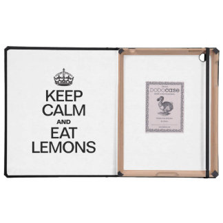 KEEP CALM AND EAT LEMONS COVER FOR iPad