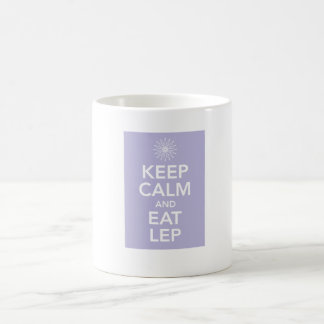 KEEP CALM AND EAT LEP COFFEE MUGS