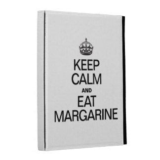 KEEP CALM AND EAT MARGARINE iPad FOLIO COVER
