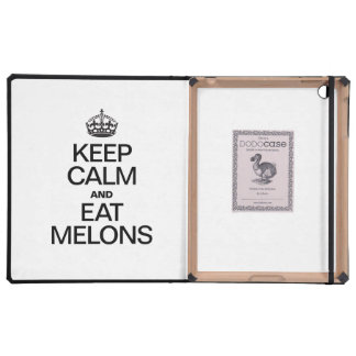 KEEP CALM AND EAT MELONS iPad COVERS