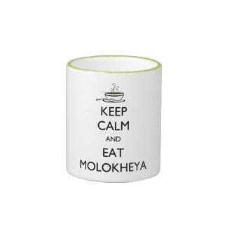 Keep Calm and Eat Molokheya Ringer Mug