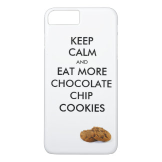Keep Calm and eat more Chocolate Chip Cookies iPhone 8 Plus/7 Plus Case