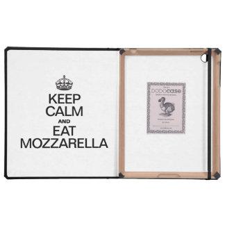 KEEP CALM AND EAT MOZZARELLA. iPad COVERS