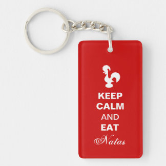 Keep calm and eat natas acrylic keychain. keychain