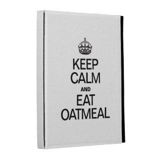 KEEP CALM AND EAT OATMEAL iPad FOLIO COVERS