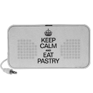 KEEP CALM AND EAT PASTRY MP3 SPEAKERS