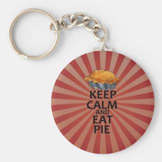 Keep Calm and Eat Pie Basic Round Button Keychain