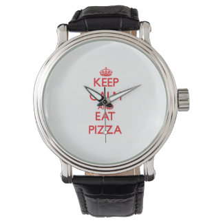 Keep calm and eat Pizza Wrist Watch