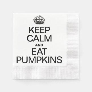 KEEP CALM AND EAT PUMPKINS DISPOSABLE NAPKINS