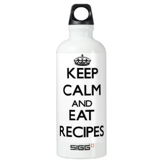 Keep calm and eat Recipes SIGG Traveler 0.6L Water Bottle