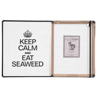 KEEP CALM AND EAT SEAWEED iPad CASES