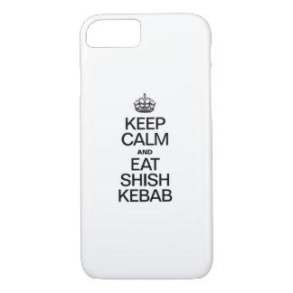 KEEP CALM AND EAT SHISH KEBAB iPhone 8/7 CASE