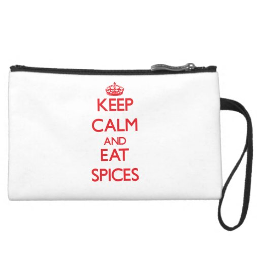 Keep calm and eat Spices Wristlet