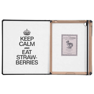 KEEP CALM AND EAT STRAWBERRIES iPad FOLIO CASE