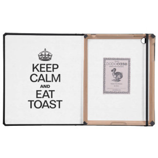 KEEP CALM AND EAT TOAST CASE FOR iPad