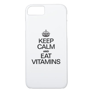 KEEP CALM AND EAT VITAMINS iPhone 7 CASE
