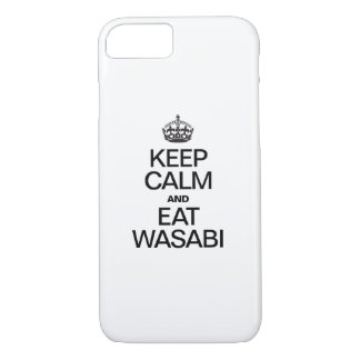 KEEP CALM AND EAT WASABI iPhone 7 CASE