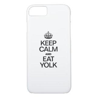 KEEP CALM AND EAT YOLK iPhone 7 CASE