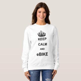 """""""Keep calm and ebike"""" sweatshirts for women"""
