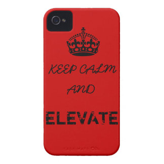 Keep Calm and Elevate iPhone 4 Cases