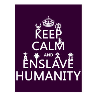 Keep Calm and Enslave Humanity (robots) Postcard