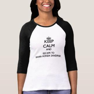 Keep calm and escape to Bahia Honda Sandspur Flori T-shirt