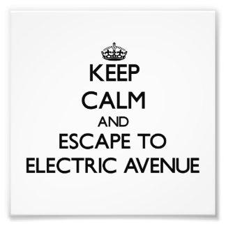Keep calm and escape to Electric Avenue Massachuse Photo Art
