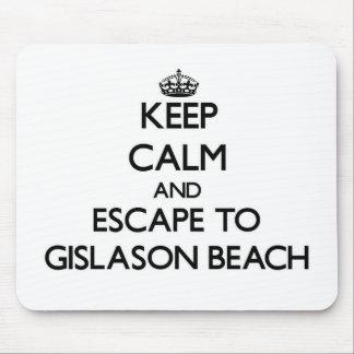 Keep calm and escape to Gislason Beach Wisconsin Mouse Pad