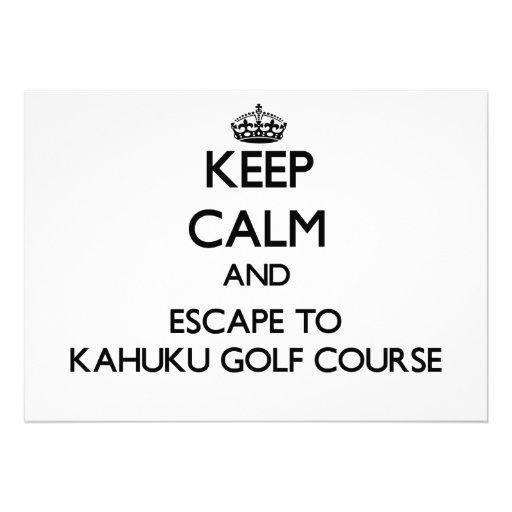 Keep calm and escape to Kahuku Golf Course Hawaii Cards