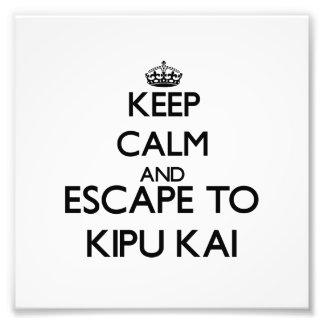 Keep calm and escape to Kipu Kai Hawaii Photo Print