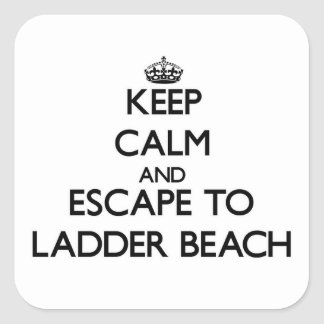 Keep calm and escape to Ladder Beach Northern Mari Stickers