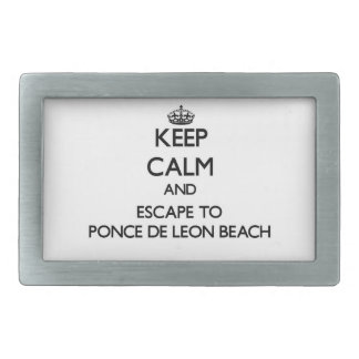 Keep calm and escape to Ponce De Leon Beach Florid Belt Buckle