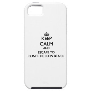 Keep calm and escape to Ponce De Leon Beach Florid iPhone 5 Covers