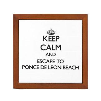 Keep calm and escape to Ponce De Leon Beach Florid Desk Organizers