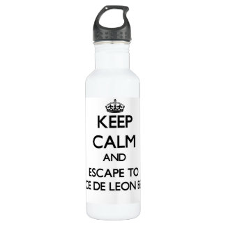 Keep calm and escape to Ponce De Leon Beach Florid 24oz Water Bottle