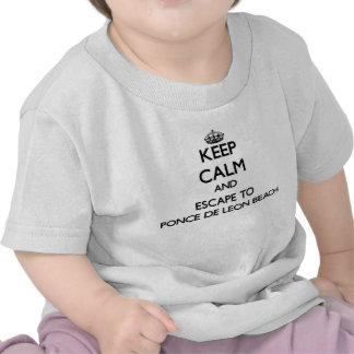 Keep calm and escape to Ponce De Leon Beach Florid Tshirts