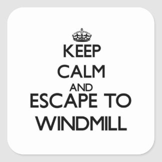 Keep calm and escape to Windmill Massachusetts Stickers