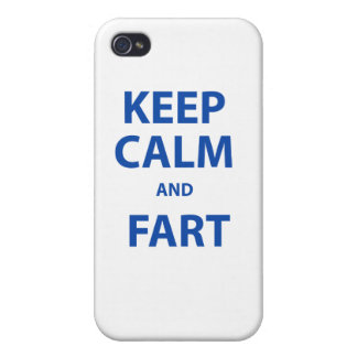 Keep Calm and Fart iPhone 4 Cases