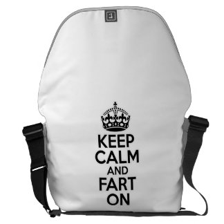 Keep Calm and Fart On Courier Bags