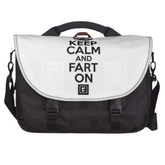 Keep Calm and Fart On Bags For Laptop