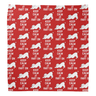 Keep Calm and Fart On with the cute French Bulldog Bandana