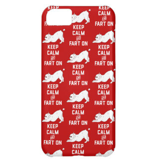 Keep Calm and Fart On with the cute French Bulldog Cover For iPhone 5C