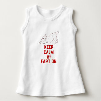 Keep Calm and Fart On with the cute French Bulldog Dress